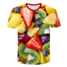 Novelty Fruits Food 3D t shirt Men Cans of Beer Printed Hip