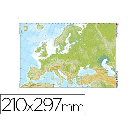 MAP MUTE COLOR DIN A4 EUROPE-PHYSICAL FITNESS 100 Units