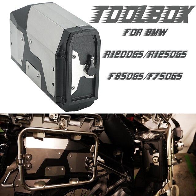 Pour BMW R1200GS R1250GS/Adventure F850GS F750GS ADV R 1200 GS LC 2004 2019 boîte à outils décorative en aluminium boîte à outils 4.2 litres
