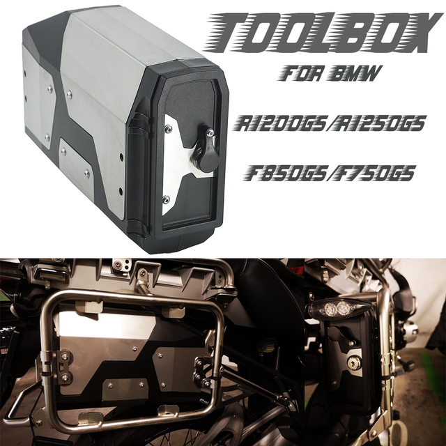 Voor Bmw R1200GS R1250GS/Adventure F850GS F750GS Adv R 1200 Gs Lc 2004 2019 Decoratieve Aluminium Doos Toolbox 4.2 Liter Gereedschapskist