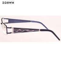 Mix wholesale promotion new Fashion Women Eye Glasses Frame Retro Eyeglasses Brand Metal Glasses Optical Glasses Frame Oculos