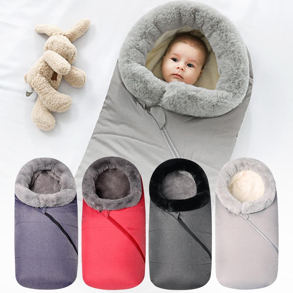 Winter Autumn Baby Infant Warm Sleeping Bag Baby Stroller Sleeping Bag Waterproof Wearable Stroller Blanket For Outdoor Tour