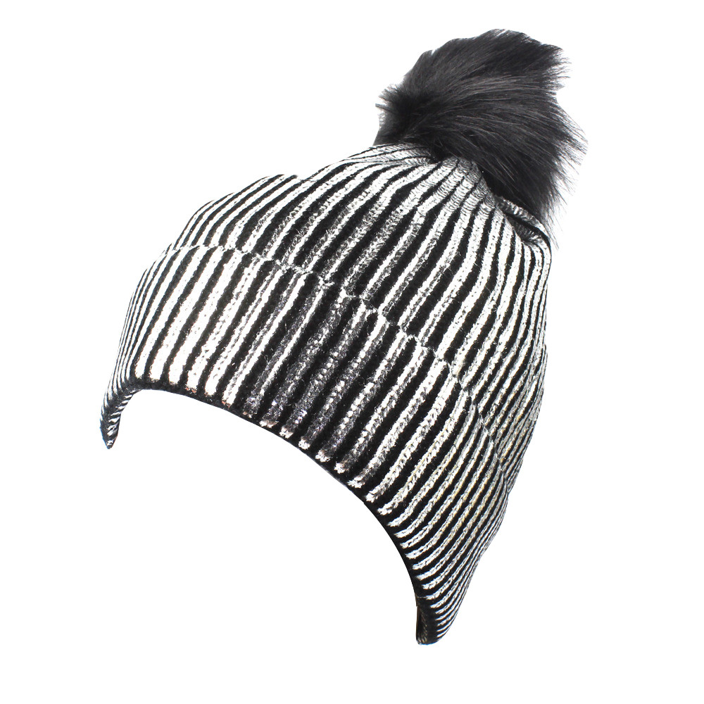 Winter Hat Caps Fur-Ball-Cap Warm Fashion Women Brand-New Hot for Knitted Thick Gorras