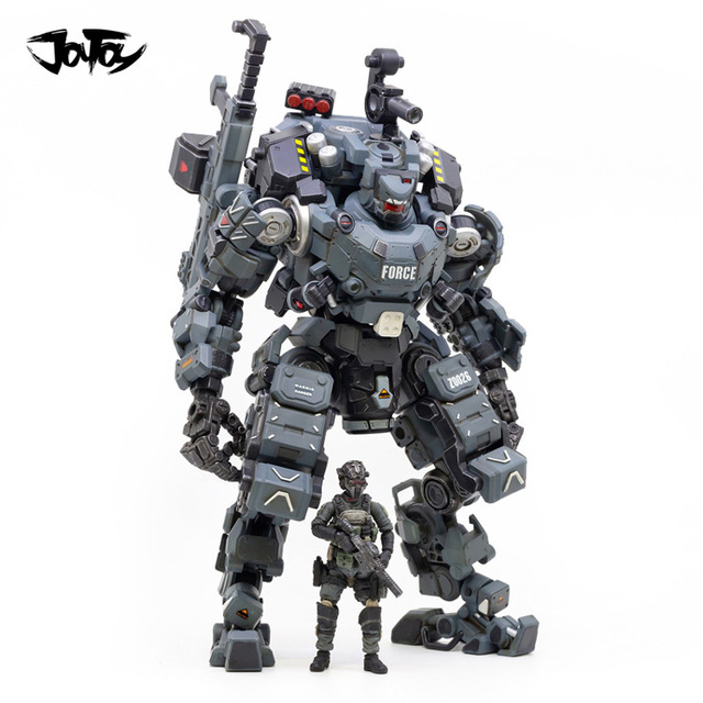 JOYTOY 23cm 1/25 Scale Collectible White/Blue/sliver Color STEEL BONE ARMOR with Figure Doll Collection Toy