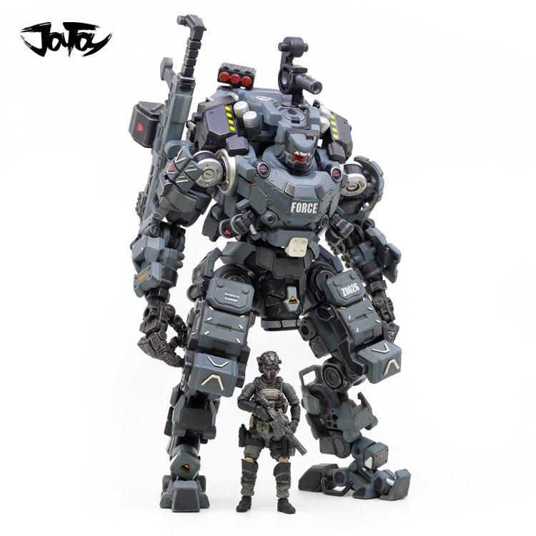 Joytoy 1/25 figura de ação robô fsteel osso mech modelo militar boneca mecha presente natal frete grátis