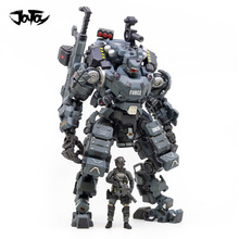 Joytoy 23cm 1/25 escala collectible branco/azul/tira de aço cor osso armadura com figura boneca coleção brinquedo
