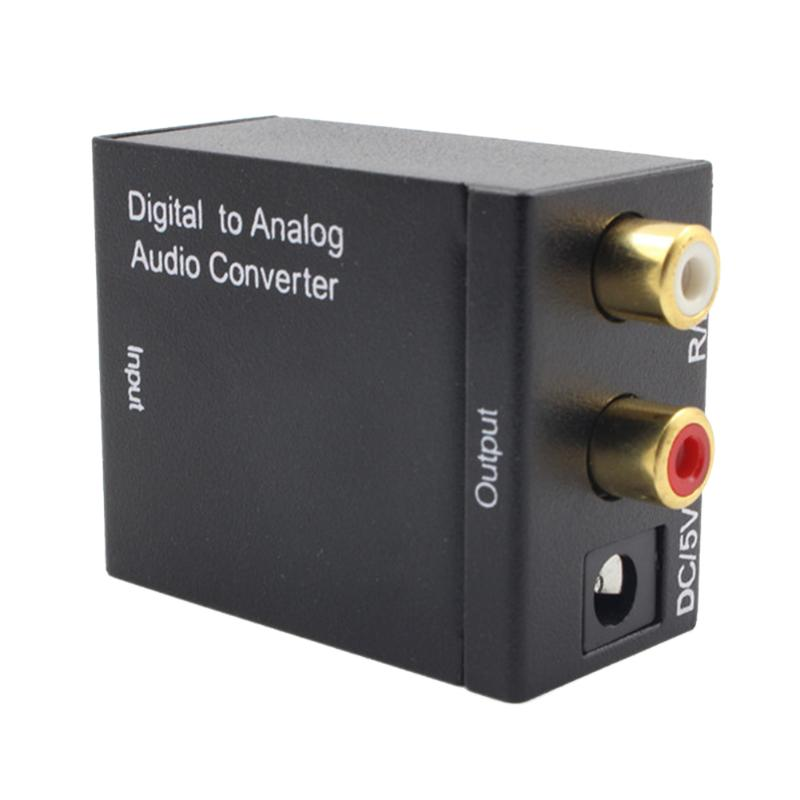 Analog Converter Decoder Optical Digital Stereo Audio SPDIF Toslink Coaxial Signal to Analog Adapter DAC Jack 2 x RCA Amplifier