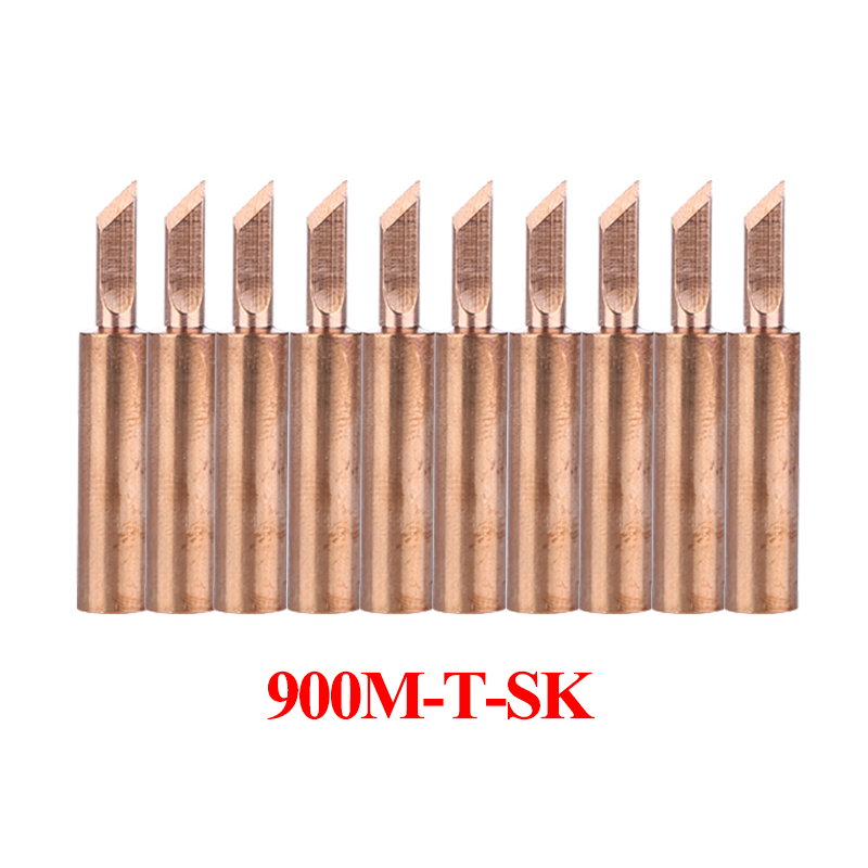 10Pcs/lot 900M-T-SK Pure Copper Solder Tip Lead-free Welding Sting Soldering Bit BGA Repair Tools