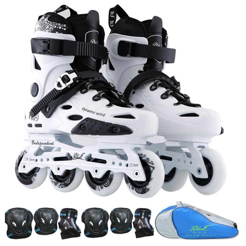 Dynamic Wind Roller Skates Men Women Inline Skating Shoes High Quality Sliding Freestyle Skating Patins 4 Wheels Professional