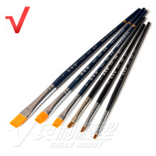 6 in 1 Modeling Flat Brush Combo Set Gundam Model Kit Tool #537-1 #537-2 #537-3 #860-0 #860-2 #860-4(China)
