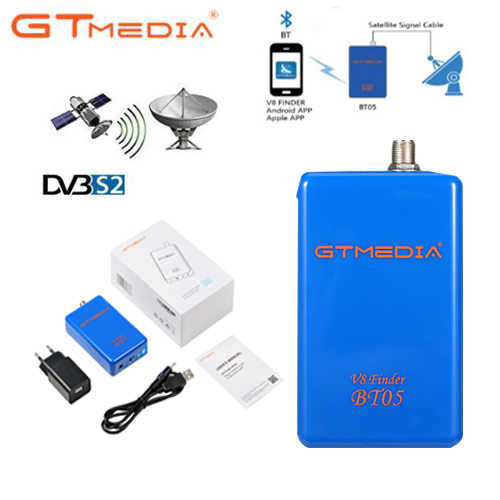 GTmedia V8 Finder BT05 mengganti BT03 Finder 1080p bluetooth DVB-S2 Satelit finder dengan lithium