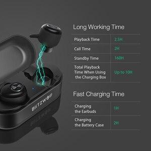 Image 2 - In Stock Blitzwolf BW FYE2 bluetooth 5.0 TWS True Wireless Earphone Sport Earbuds Twins Hi Fi Stereo Sound Bilateral Calls