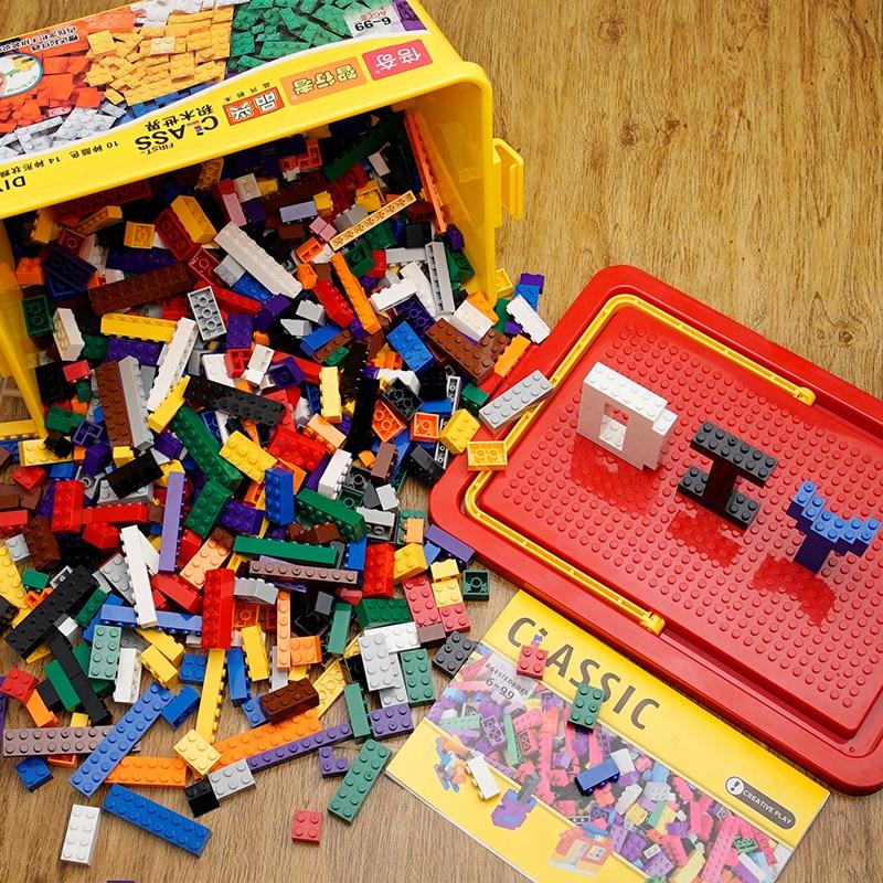 Kids Classic Building Blocks Set City Bricks Toys For Children Educational Bulk Bricks Fit Lego Construction Blocks Base Plate