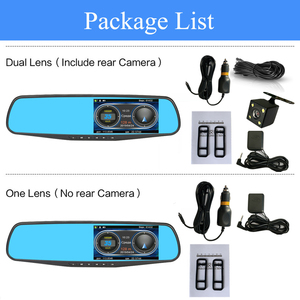 Image 5 - Addkey 車 dvr レーダー検出器ミラーカメラビデオレコーダー fhd 1080 1080p 自動カメラデュアルレンズのリアビューカメラ speedcam ダッシュカム