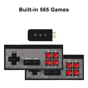Image 5 - Mini Retro konsola kontroler bezprzewodowy kompatybilny z HDMI podwójny odtwarzacz 4K AV gra wideo konsola wbudowana w 568/600 klasyczne gry