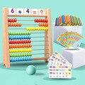 Деревянные Abacus детские ранние математические Обучающие игрушки цифры счетные бусины Abacus Монтессори обучающая помощь
