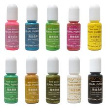 10 Pcs/set DIY Crystal Epoxy Handmade Jewelry Making Oily Pearlescent Pigment Resin Crafts Accessories