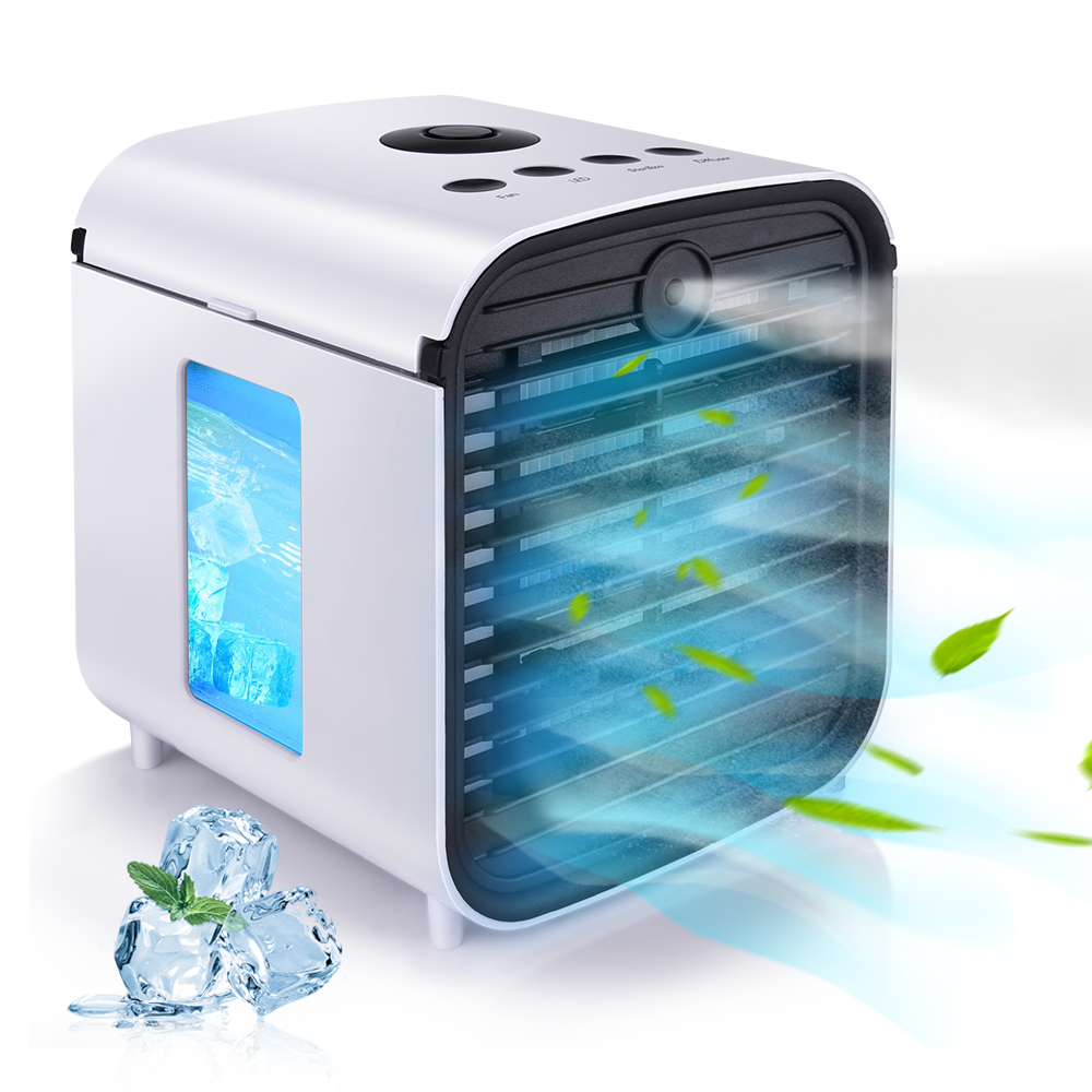 Portable Fan Convenient Air Cooler Portable Digital Air Conditioner Humidifier Purifier USB Desktop Air Cooler For Home Office