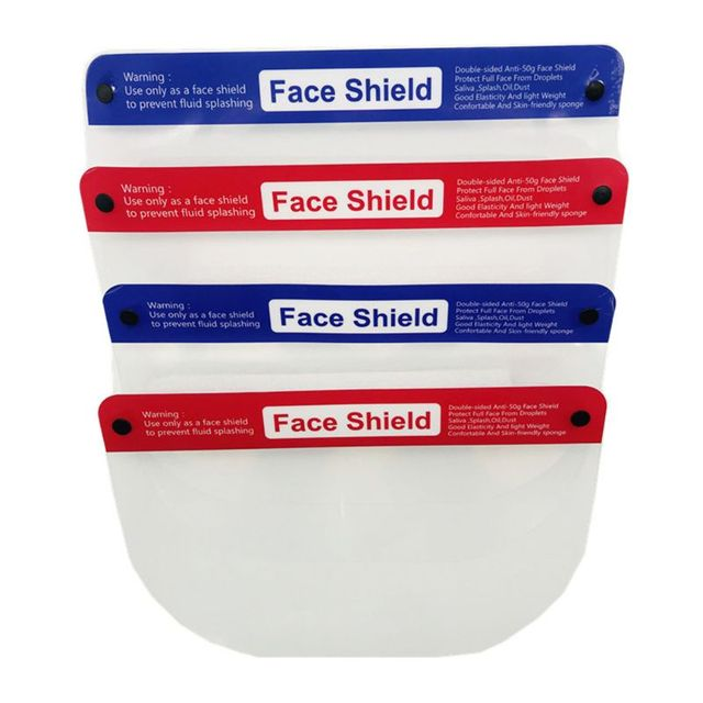 Transparent Protective Sheild Reusable Safety Face Shield Anti-Saliva Windproof Dustproof Full Face Cover Hat 3