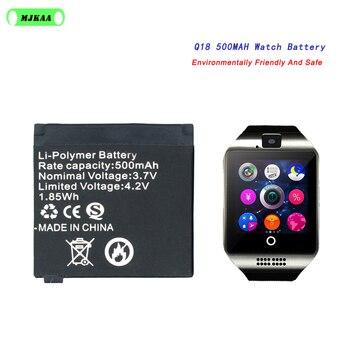 Q18 3.7V 500mAh Rechargeable Lithium Battery Li-ion Polymer For Q18 Smart Watch Li-po Battery High Quality Long Lasting 2pcs lq s1 battery for smart watch dz09 w8 a1 t8 x6 qw09 v8 x6 dj 09 battery lq s1 3 7v 380mah li po rechargeable battery cells