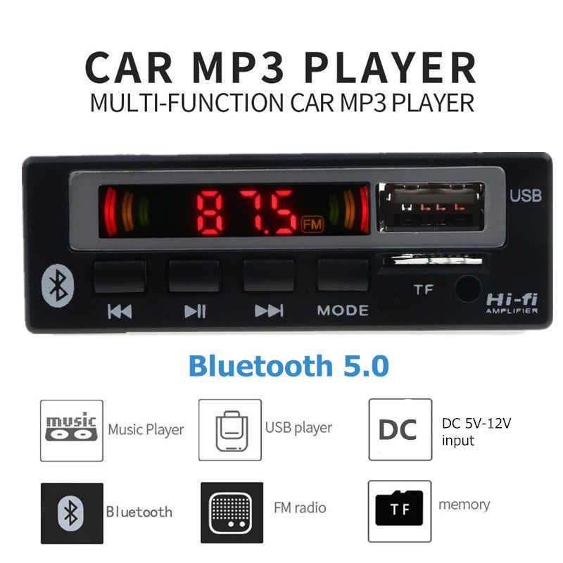 USB AUX Bluetooth FM ラジオ V5.0 ワイヤレス受信機 MP3 プレーヤー 5V 12V Mp3 デコーダボードモジュール 1 Din 音楽スピーカーカーキット