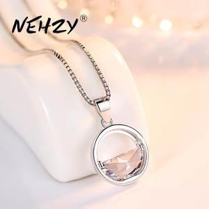 NEHZY, Стерлинговое Серебро 925 пробы, женская мода, новое ювелирное изделие, высокое качество, кристалл, циркон, Круглый Ретро стиль, простое ож...
