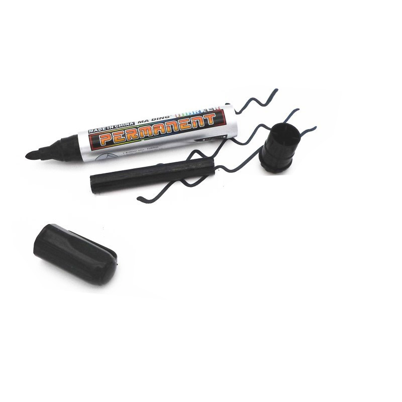 permanent black red marker pens for plastic metal textile waterproof permanent paint marker pen oil fine write on glass 20mm in Marker Pens from Office School Supplies