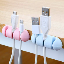 Manager-Cord-Holder Organizer Desktop-Wire Silicone Mouse Usb-Cable for Headphone Bobbin-Winder