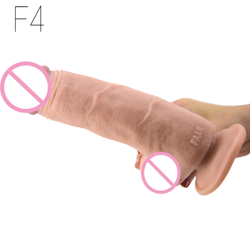 JOOI F4 <font><b>fat</b></font> thick dildo plump shape realistic penis big testicle dildo huge cock <font><b>sex</b></font> <font><b>toys</b></font> massage clitoris stimulate for woman image