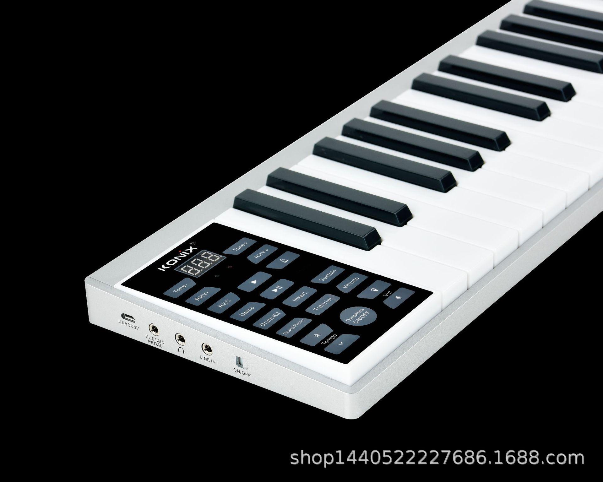 2020 nouveau manuel de Piano Intelligent 61 touches teclado musical Portable électronique Piano adulte professionnel Midi clavier charge - 3