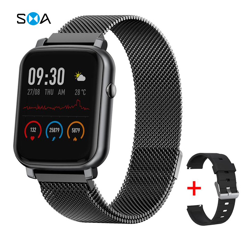 SMAWATCH Smart Watch Smartwatch Men Women 2020 IP68 Swimming Waterproof Alloy Full touch Women s Smartwatch Watch Smart Watches