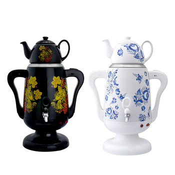 Electric Blue And White Porcelain Tea Maker Samovari  Turkish Teapot 4.5L Urn Christmas Gift