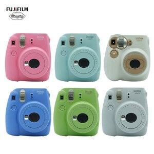 Kids Children Christmas Gift Fujifilm Instax Mini7C 9 Instax Camera+50 Sheets Fujifilm Instax Mini 9 Film Photo Paper Instax Cam