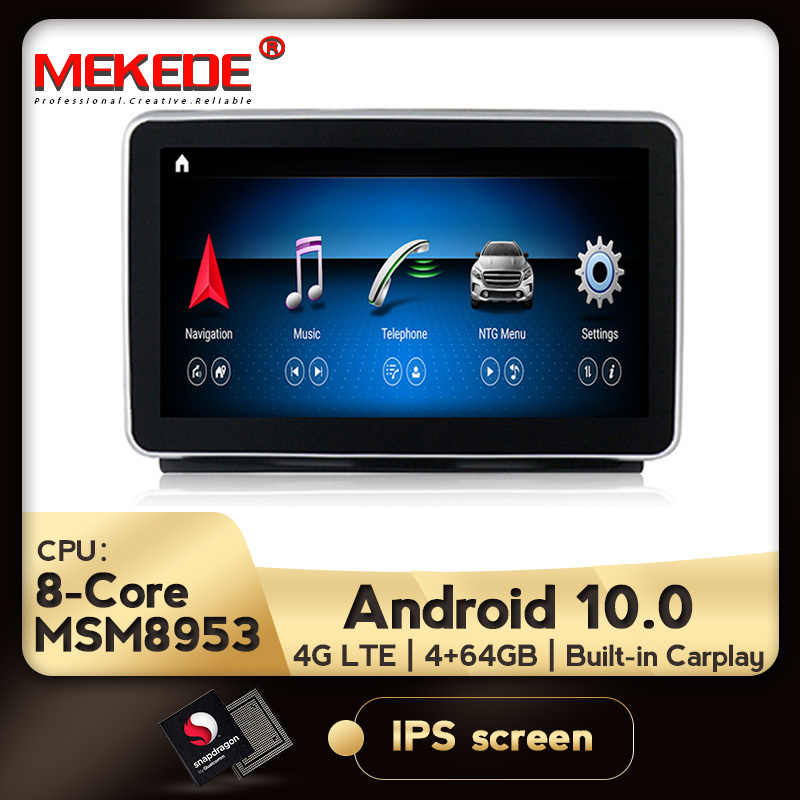 Mekede Hd Android 10.0 Voor Mercedes Benz M Ml W166 Gl X166 Gle Auto Radio Multimedia Monitor Gps Navigatie Bluetooth hoofd Unit