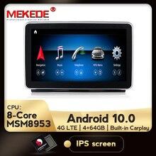 Mekede hdアンドロイド10.0メルセデスベンツml W166 gl X166 gle車ラジオマルチメディアモニターgpsナビゲーションbluetoothヘッドユニット
