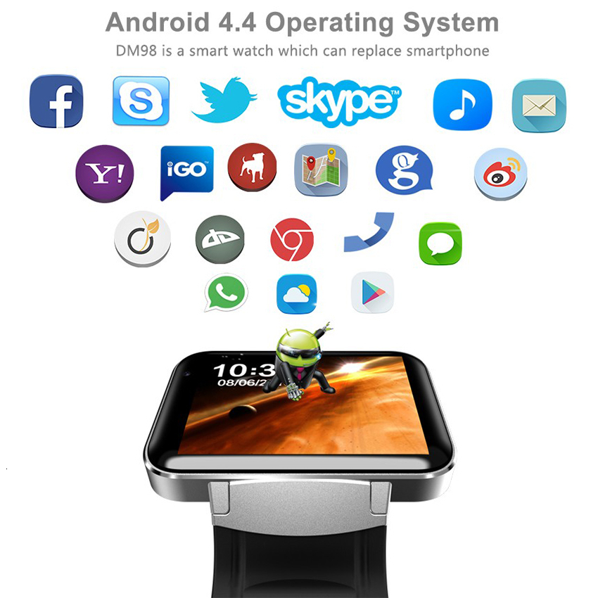 Image 2 - Android Bluetooth wifi GPS Smart Watch Smartband mini mobile phone Smartwatch Fitness tracker MTK6752 4GB ROM 3G smartphone-in Cellphones from Cellphones & Telecommunications