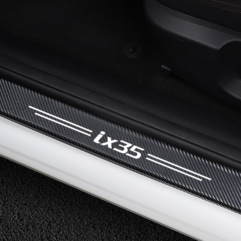 4pcs Door Sill Carbon Fiber Car Scuff Plate Cover Panel Step Protector for Lexus
