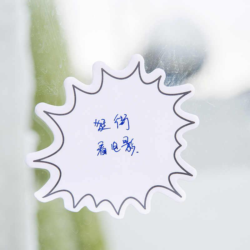 Kawaii เครื่องเขียน Memo Pads น่ารักกล่องโต้ตอบกล่องกระดาษสติกเกอร์ Sticky Note Page Marker Planner สำหรับเด็กอุปกรณ์สำหรับโรงเรียน