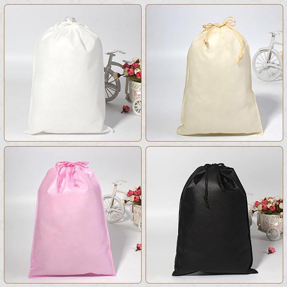 5Pcs Drawstring Bag Men Women Reusable Travel Packing Organizer Dustproof Cosmetic Underwear Toiletry Storage Pouch
