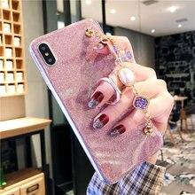 Glitter Rhinestone Bracelet Case For Huawei Y9 Y7 Y6 Y5 Y3 ii Prime Pro 2019 2018 2017 2016 Enjoy 9 8 Plus P Smart Z Covers все цены