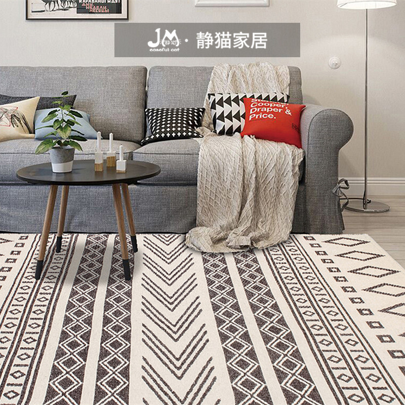 Andra Series Handmade Modern Bedroom Hotel Sofa Coffee Table Living Room 100% Wool Carpet