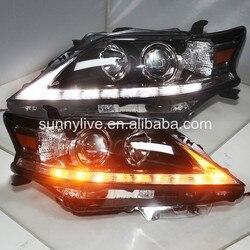 تدفق LED تحول مصابيح الرأس مع عدسة الإسقاط لكزس RX270 RX350 RX450H غير AFS سيارة 2012-2015