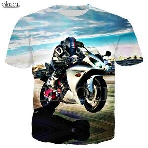 Image 3 - זרוק משלוח אופנה מוטוקרוס T חולצה גברים של נשים של 3D הדפסת מכונית ספורט קצר שרוול היפ הופ זוג ללבוש אסיה גודל S 5XL חולצות