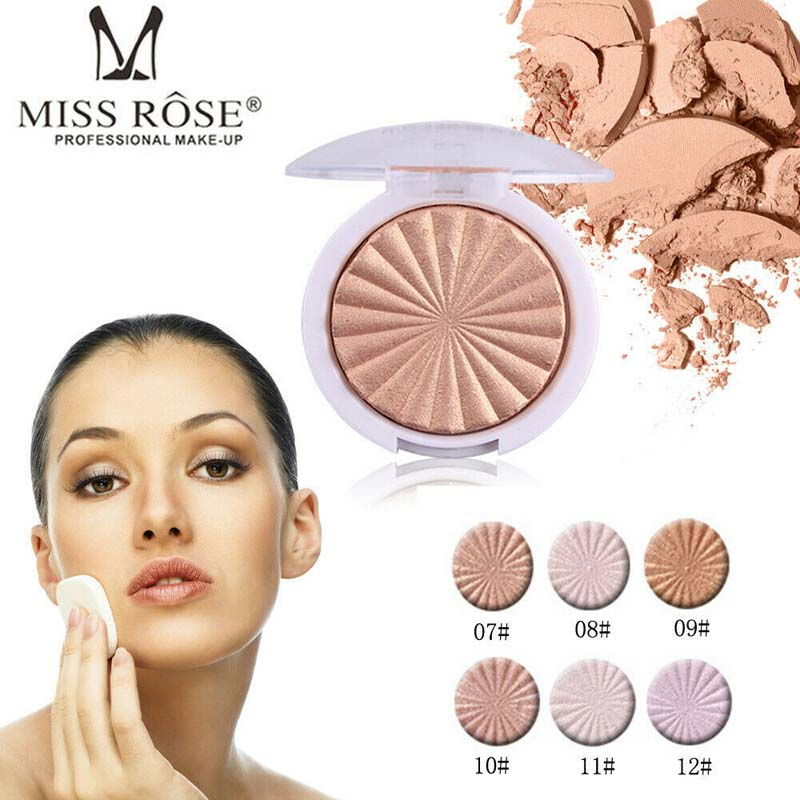 2019 Hot Miss Rose Glow Kit Highlighter Makeup Shimmer Powder Highlighter Palette Base Illuminator Highlight Face Contour