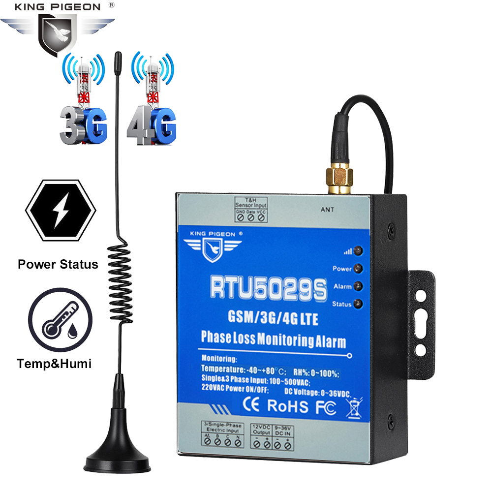 GSM 3G 4G LTE 3 Phase Loss Monitoring Alarm Power Failure Status Value Monitoring Support Modbus TCP RTU5029A