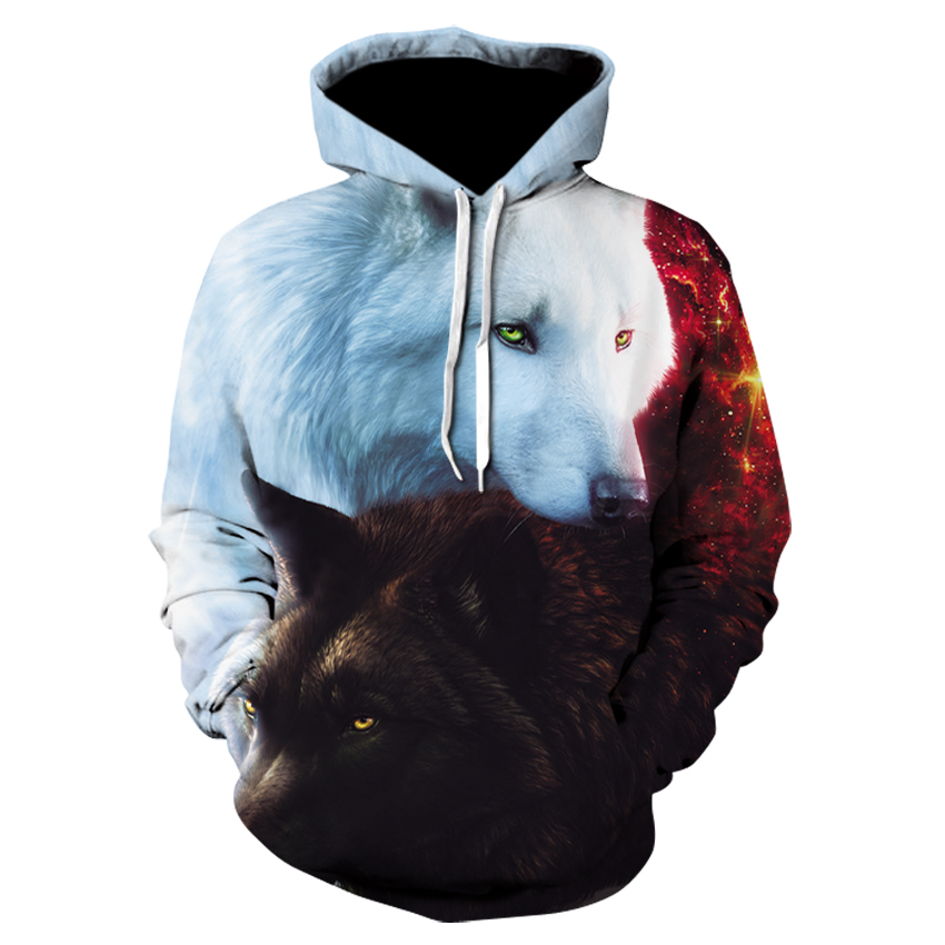 Wolf Printed Hoodies Men 3d Hoodie Brand Sweatshirts Boy Jackets Quality Pullover Fashion Tracksuits Animal Streetwear Out Coat