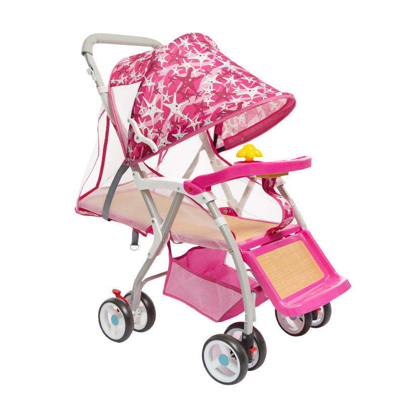 Baby Rattan Stroller Summer Portable Folding Umbrella Car Simple Baby BB Rattan Push Chair Bamboo Rattan Stroller