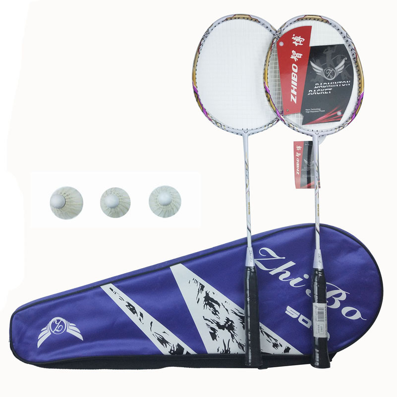 Tomohiro Carbon Fiber Racket Genuine Product Entertainment Casual Only Shoot Couples Cool Badminton Racket Gift Three Balls Set