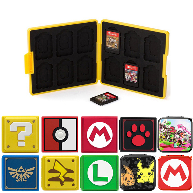 Nintend Switch Accessories Portable Game Cards Case Shockproof Hard Shell Storage Box For Nintendo Switch NS Games