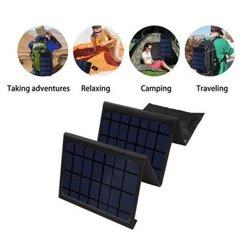 DC14-15V Foldable Solar Panel Charger Waterproof Dual USB Battery Charger Solar Power Bank Power Bank Portable Charger